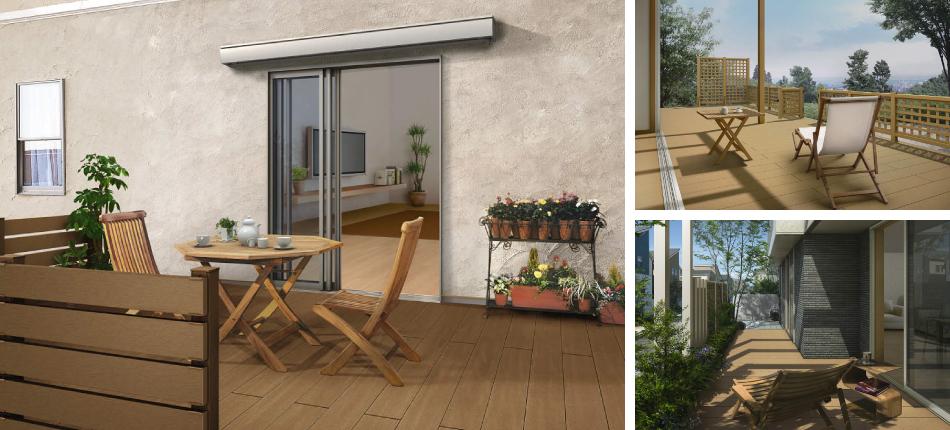 暑い日に、お庭のデッキで涼しく楽しむアイデア