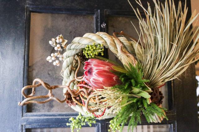クリスマスが終わったらお正月の準備、手作りのしめ飾りを飾り、門扉から新年の門出を迎えませんか?