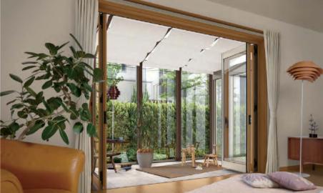 お庭のテレワーク空間アイデア、気分をリフレッシュして仕事に集中!
