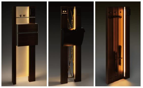 門柱と照明のコーディネートで、我が家らしい玄関を演出しましょう。