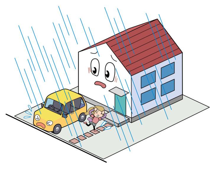 台風や強風に備えたカーポートの選び方、設置場所やメンテナンスにも注意が必要です。