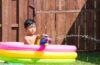 デッキでお庭プール、子どもといっしょに楽しみたい